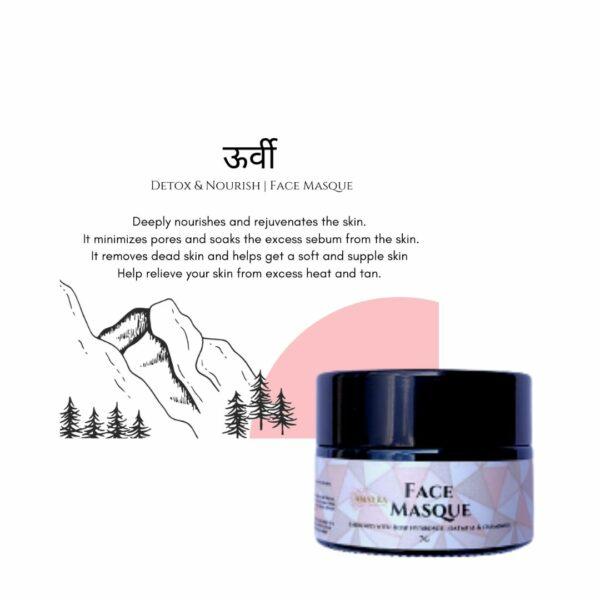 Amayra Naturals Mini Oorvi : Detox & Nourish | Face Masque | 7gm