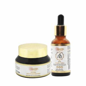 Amayra Naturals VITAMIN C SKIN BOOSTER | Vitamin C Serum | Face Wash Powder