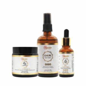 Amayra Naturals Skin Radiance Combo | Face Toner + Vitamin C serum + Face Gel |100ml + 30ml + 100gm