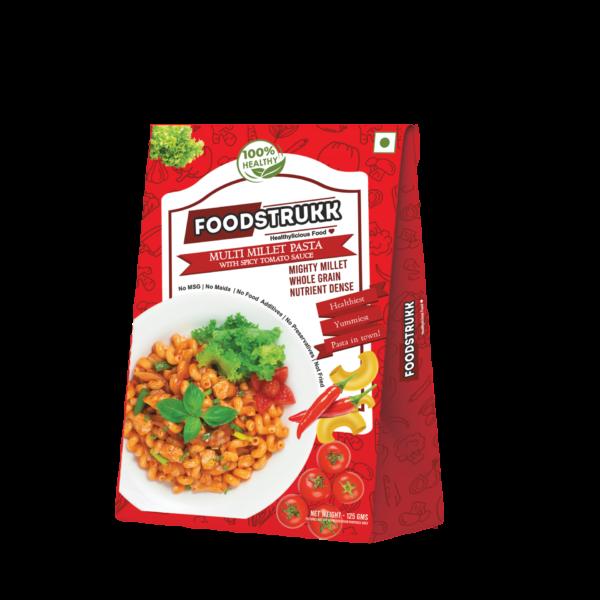 Foodstrukk Multigrain Pasta In Tomato Chilly Sauce(Pack of 3)
