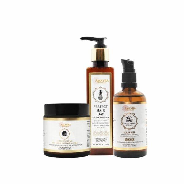 Amayra Naturals Hair Care Regime Combo | Masque + Oil + Shampoo | 100gm +100ml + 200ml