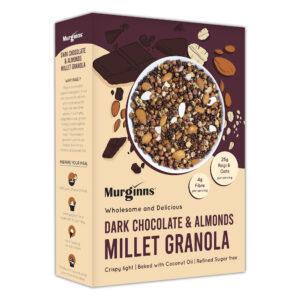 Murginns Dark Chocolate and Almond Granola, 350gm