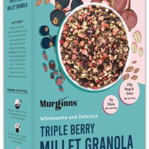 Murginns Triple Berry Millet Granola 350gm