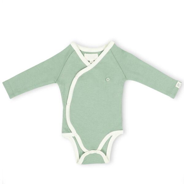 Full Sleeve Kimono Onesie- Sage Green
