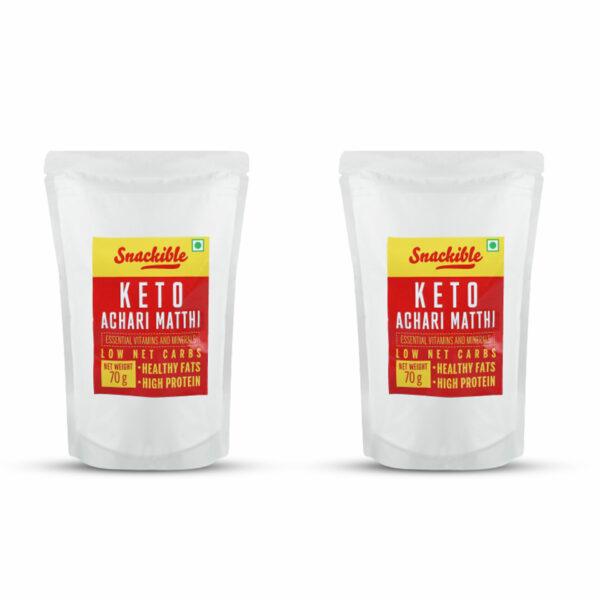 Snackible Achari Keto Matthi (Pack of 2) - 2x70gm
