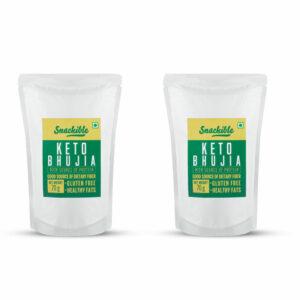 Snackible Keto Bhujiya (Pack of 2) - 2x70gm