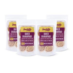 Snackible Baked Bhakarwadi (Pack of 4) - 4x75gm