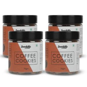 Snackible Coffee Cookies (Pack of 4) - 4x70gm