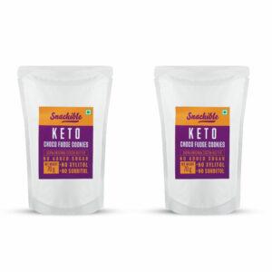 Snackible Keto Choco Fudge Cookies (Pack of 2) - 2x70gm