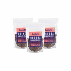 Snackible Quinoa Dark Chocolate Granola (Pack of 3) - 3x80gm