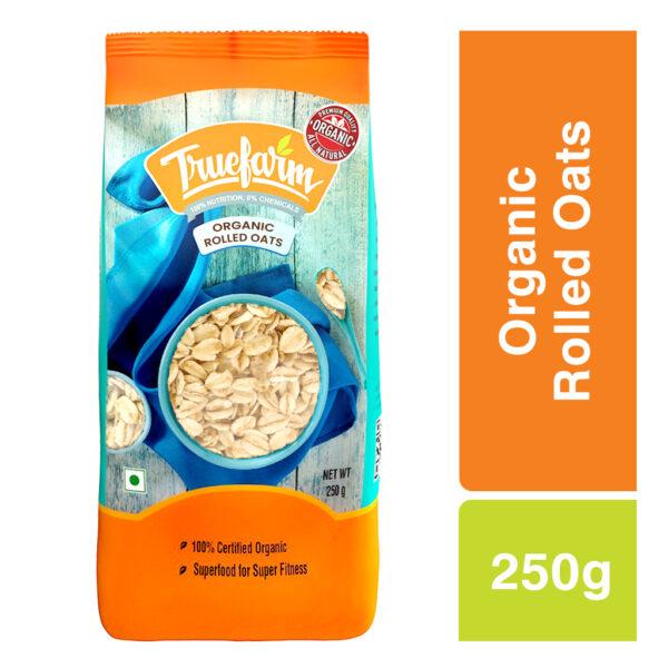 Truefarm Organic Rolled Oats (250g)