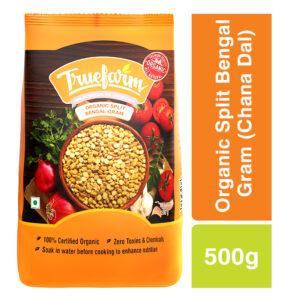 Truefarm Organic Split Bengal Gram (Chana Dal) (500g)