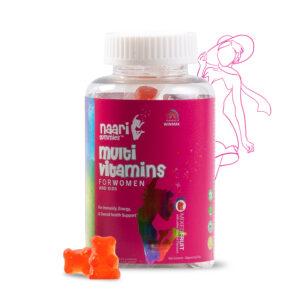 Naari Multivitamin Gummies for Women and Kids with 10 Essential Vitamins & Inositol | 30 Gummy Bears