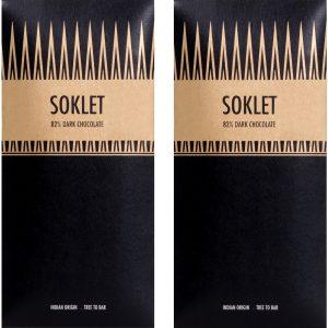 Soklet 82% Dark Chocolate Tree-to-Bar Indian Origin 50 GMS - Pack of 2 (100 GMS) Brand: Soklet