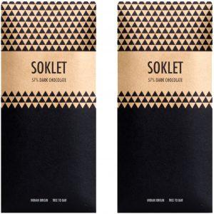 Soklet 57 % Dark Chocolate Tree-to-Bar Indian Origin 50 GMS - Pack of 2 (100 GMS)