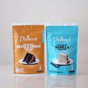 Real Bean Vanilla Cake+ Devils Choco Cake