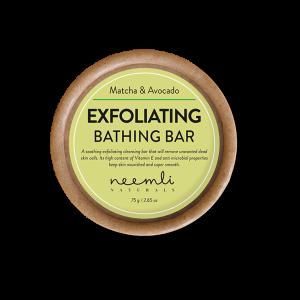 MATCHA AND AVOCADO EXFOLIATING BATHING BAR 75 gram