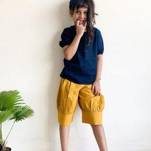 Mia Puffed Shorts ( Mustard)
