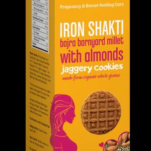 Bajra & Barnyard Millet Jaggery Cookies with Almonds 150g
