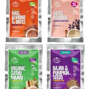 Stage 2 Trial Pack Combo - Organic Fresh Porridge Mixes - 50g each X 4
