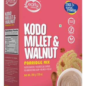 Kodo Millet & Walnut Porridge Mix, 200g