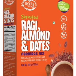 Sprouted Ragi, Almond & Date Porridge Mix 200g