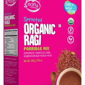 Organic Sprouted Ragi Porridge Mix 200g (Plain)