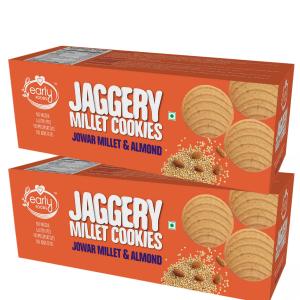 Pack of 2 - Jowar Almond Jaggery Cookies 150g X 2