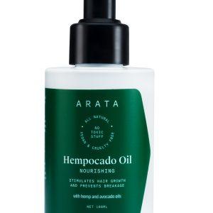 Arata Natural Nourishing Hempocado Hair Oil With Hempseed & Avocado Oil For Women & Men | All-Natural, Vegan & Cruelty-Free | Stimulates Hair Growth & Prevents Breakage - (100 ML)