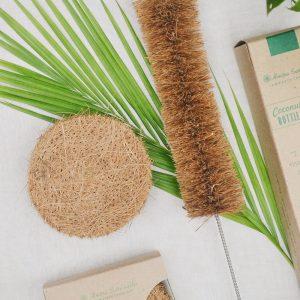 Coconut Fiber Coir Scrub (Pack of 5) and Bottle cleaner