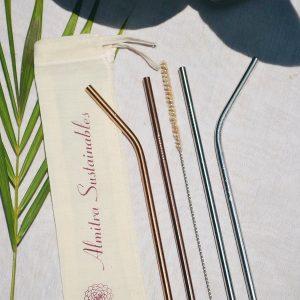 Reusable Drinking Straw Set