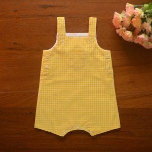 Madras-Check Baby Overalls