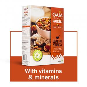 GAIA Crunchy Muesli Fruit and Nut 400 gm