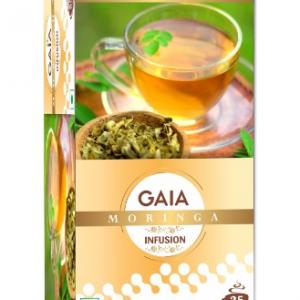GAIA Green Tea Moringa Infusion 25 Sachets for lowering Blood Sugar Level.