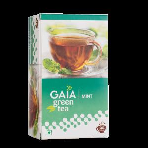 Gaia Green Tea Mint 25 tea bags