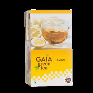 Gaia Green Tea Lemon 25 tea bags