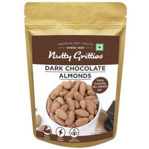 Nutty Gritties Dark Chocolate Almonds, 200g