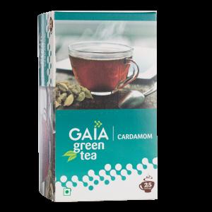 Gaia Green Tea Cardamom 25 tea bags