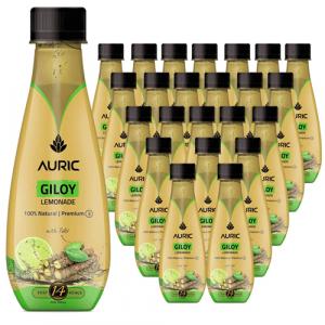 Auric Giloy Lemonade- Pack of 24 bottles