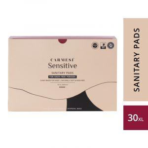 Carmesi Sensitive Sanitary Pads - Certified 100% Rash-free by Gynaecologist (30 XL)