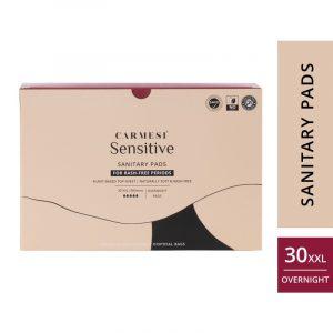 Carmesi Sensitive Sanitary Pads - Certified 100% Rash-free by Gynaecologist (30 XXL)
