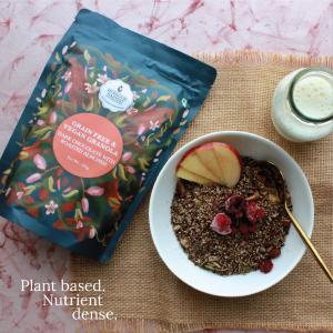 Grain Free & Vegan Granola - Dark Chocolate with Roasted Almond, 250g