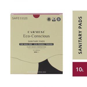 Carmesi Eco-Conscious - Sanitary Pads for Rash-Free + Eco-Friendly Periods (10 Large)