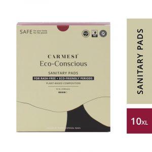 Carmesi Eco-Conscious - Sanitary Pads for Rash-Free + Eco-Friendly Periods (10 XL)