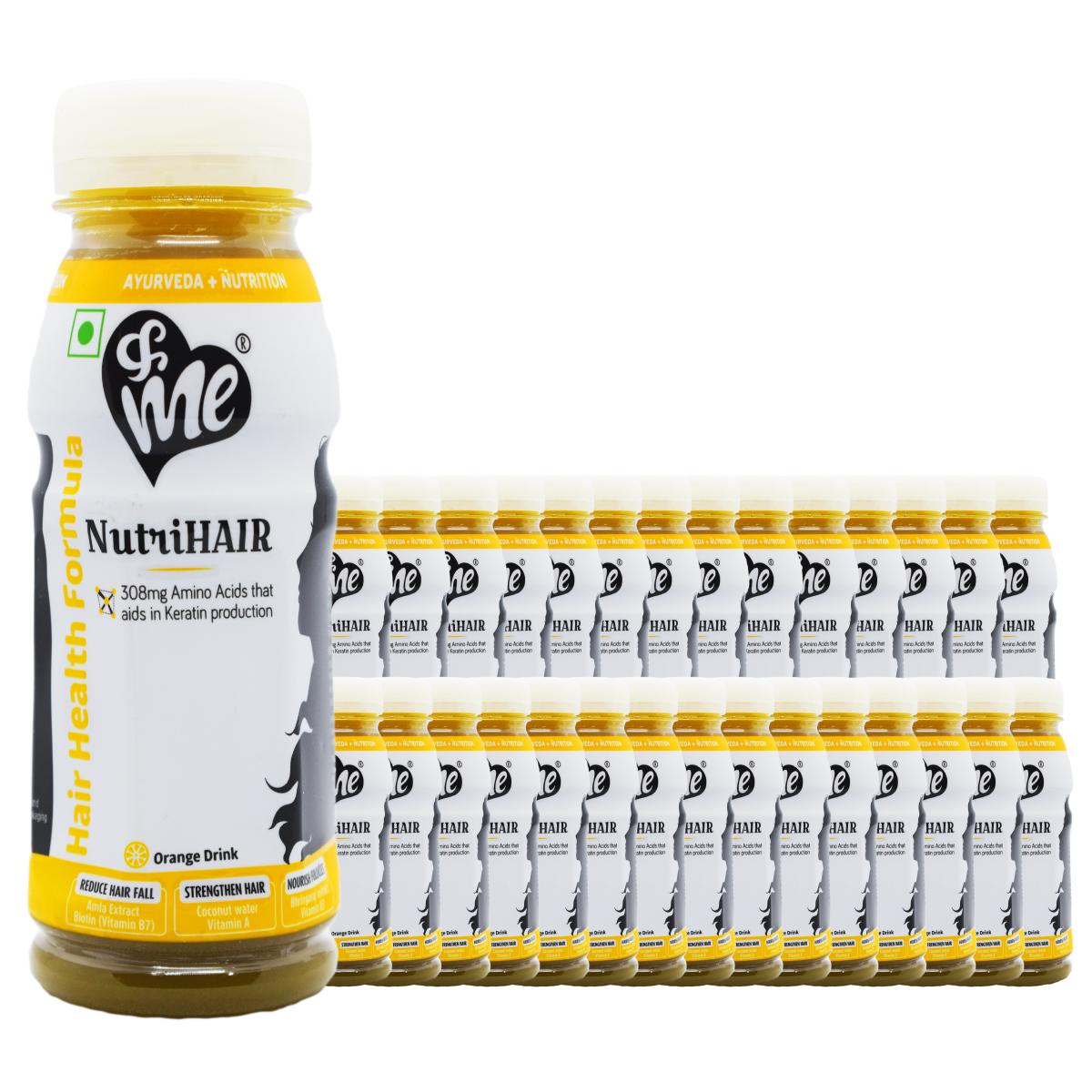 &Me NutriHair Drink-Orange 200mL(Pack of 30)