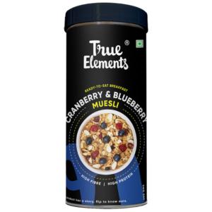 True Elements Cranberry And Blueberry Muesli 400gm