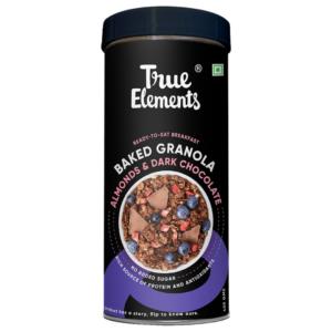True Elements Baked Granola Almonds And Dark Chocolate 450gm