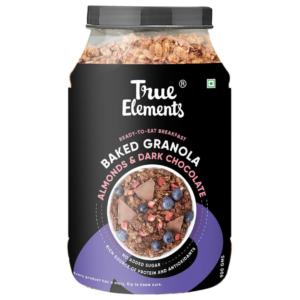 True Elements Baked Granola: Almonds and Dark Chocolate 900 gm