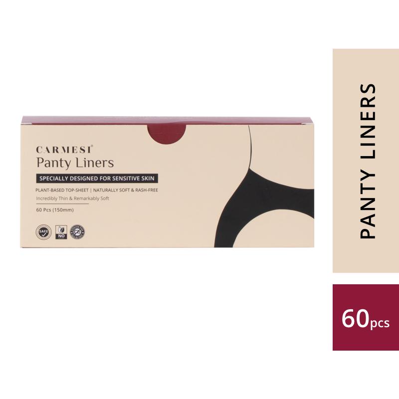 Carmesi Panty Liners - Designed for Sensitive Skin (60 Pcs)