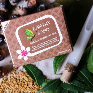 Earthy Sapo Reetha shampoo Bar, 100g - Pack of 2